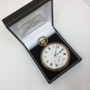 Preowned 9 carat yellow gold open face pocket watch