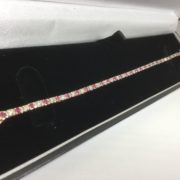 9 carat yellow gold ruby and diamond bracelet