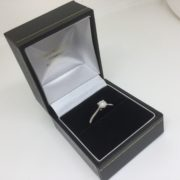 Preowned palladium single stone diamond ring