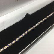 9 carat yellow gold sapphire and diamond bracelet