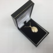 9 carat yellow gold oval locket on a chain