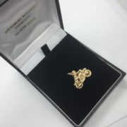 Preowned 9 carat yellow gold motorbike charm/ pendant