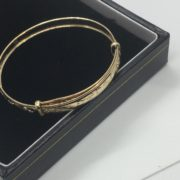 Preowned 9 carat yellow gold expandable children's  bangle