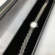Preowned 14 carat white gold diamond Bulova watch