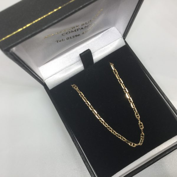 Preowned 9 carat yellow gold anchor chain