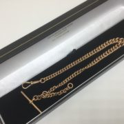 Preowned 9 carat rose gold Albert/ pocket watch chain