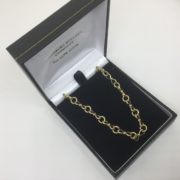 Preowned 9 carat yellow gold chain