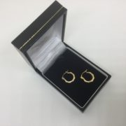 Preowned 9 carat yellow gold small hoop earrings