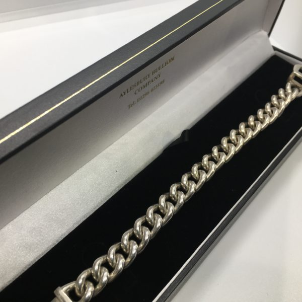 Preowned sterling silver buckle bracelet