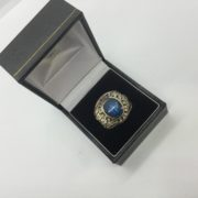 Preowned 10 carat yellow gold college ring