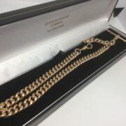 Preowned 9 carat yellow gold Albert chain