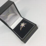 18 carat yellow gold sapphire and diamond ring