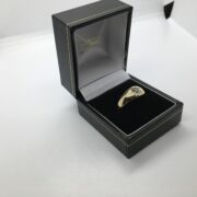 Preowned 18 carat yellow gold gypsy ring