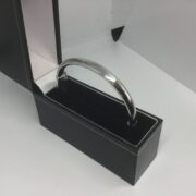 Preowned 9 carat white gold hinged bangle