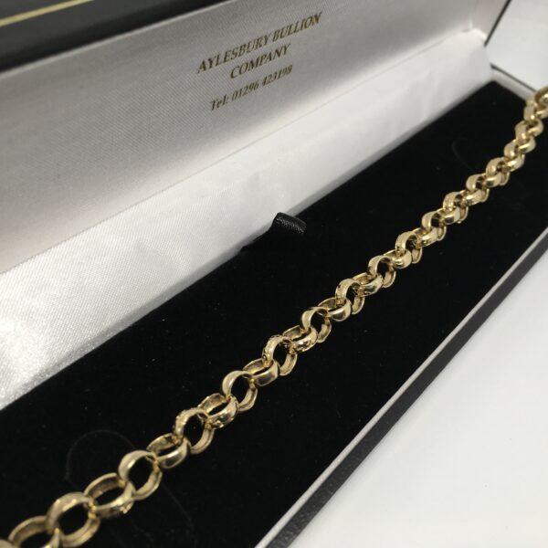 Preowned 9 carat yellow gold belchar bracelet