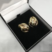 Preowned 9 carat yellow, white and rose gold earrings