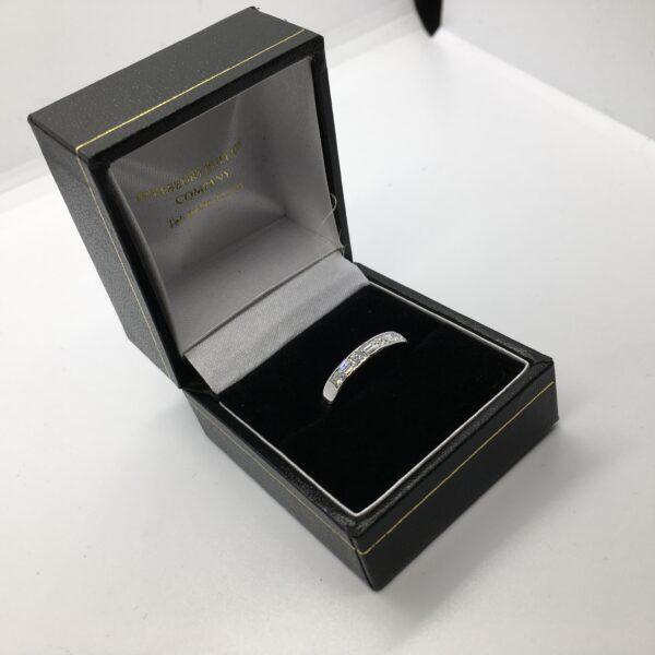 Preowned 18 carat white gold diamond band
