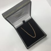 9 carat rose gold trace chain