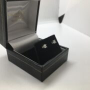 Preowned 18 carat white gold diamond stud earrings