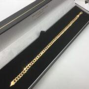 9 carat yellow gold curb bracelet