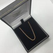 9 carat rose gold round belchar chain