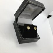 Preowned 18 carat yellow gold diamond stud earrings