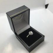 Preowned platinum and diamond ring