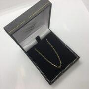 9 carat yellow gold diamond cut belchar chain