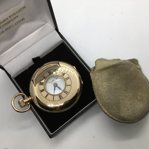 Preowned 9 carat yellow gold pocket watch