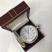 Preowned base metal Gradus manual wind pocket watch