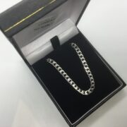 9 carat white gold curb chain