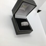 Preowned 18 carat white gold diamond band