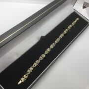 9 carat yellow gold fancy link bracelet
