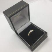 Preowned 18 carat yellow gold 3 stone diamond ring