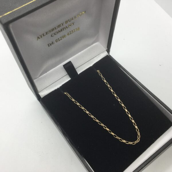 9 carat yellow gold diamond cut belchar chain