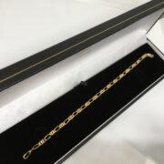 Preowned 9 carat yellow gold fancy figaro bracelet
