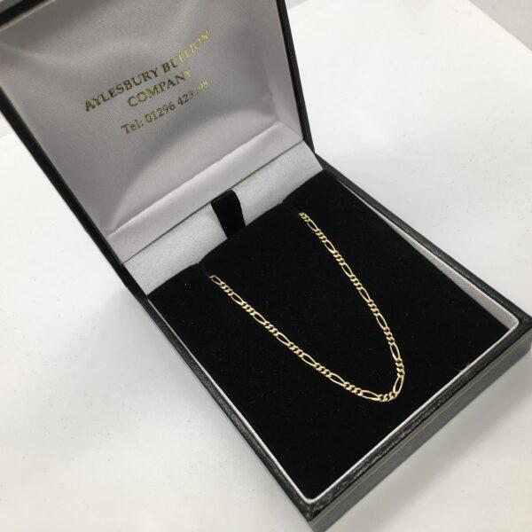 9 carat yellow gold figaro chain