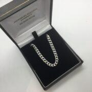 9 carat white gold curb chain
