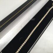Preowned 9 carat yellow gold diamond tennis bracelet