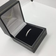 Preowned 9 carat white gold diamond band/eternity ring