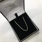 Sterling silver diamond cut trace chain