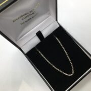 Sterling silver diamond cut belchar chain