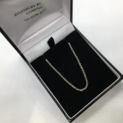 Sterling silver diamond cut round belchar chain