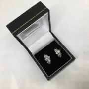 Preowned 9 carat yellow gold tanzanite earrings