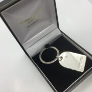 Preowned sterling silver key ring