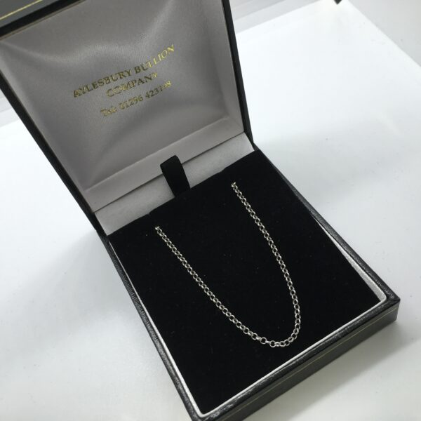 Sterling silver adjustable round belchar chain