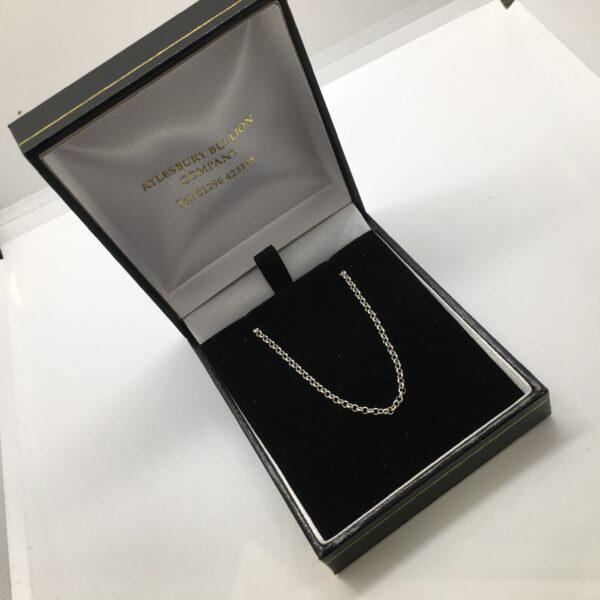 Sterling silver round belchar chain