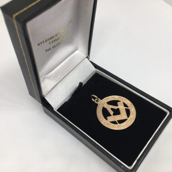 Preowned 9 carat rose gold Masonic pendant