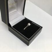 9 carat white gold single stone diamond ring