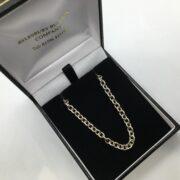 Sterling silver oval belchar chain